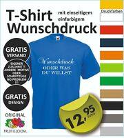 TOP T-Shirt mit Wunschdruck, Logo, Wunschtext, vom Profi entwerfen lassen  #01