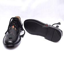 Men's Ghillie Brogues Black Leather Scottish Kilt Shoe Extra Comfort Padded-WLC