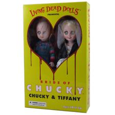 Mezco Toys Living Dead Dolls LDD Chucky & Tiffany Figures Dolls Box Set New