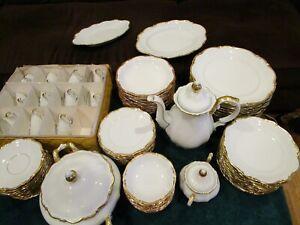 1507 Mitterteich Bavaria Golden Lark Porcelain 91 pieces BUY ONE OR ALL
