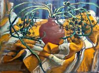 painting art vintage still life old flowers impressionism decor rare Maksymenko