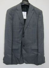 Theory Men's Steep Twill Plaid Gansevoort Wool Jacket 42R Grey  NWT