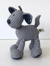 Jelly Cat / Kitten - Skiddle Puppy Rattle - Soft Blue & White Stripe  Beanie Dog