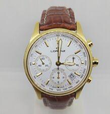 Orologio Uomo Lorenz Theatro Automatico Cronografo Swiss Made Rotondo Placcato