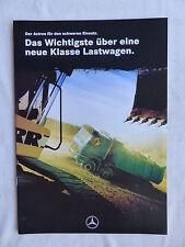 Mercedes-Benz LKW Actros Schwere Klasse Baustellen - Prospekt Brochure 08.1997