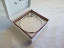 New w/BOX -GIFT SET Pandora LARGE Silver Bangle Bracelet 21 CM 590713-21 8.3 in