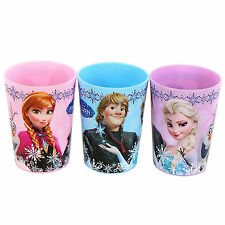 Authentic 3 FROZEN Elsa Anna Kristoff Juice Party Cups Mouth Rinse, Birth Gift
