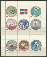 STAMPS-DOMINICAN REPUBLIC. 1960. Olympic Games (Perf) Miniature Sheets. MNH.