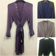 EX STORE  JERSEY DRESSING GOWN/ROBE UK SIZES 8/10-22 9 COLOURS