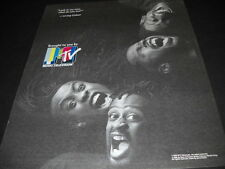 LIVING COLOUR screaming for you to LOOK IN MY EYES... 1989 PROMO POSTER AD mint