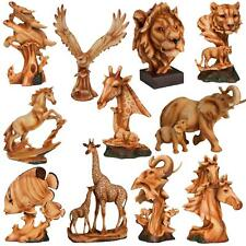 Naturecraft Wood Effect Resin Animal Statue Ornament Figurine - Choose Design