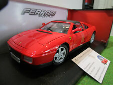 FERRARI 348 TS rouge/noir au 1/18 BURAGO 1816006 voiture miniature de collection