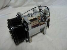 Chrome Sanden compressor 508 Serpentine belt a/c air conditioning 134a 7 Rib New