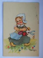 MARIAPIA Tomba vecchia cartolina bambina olandese