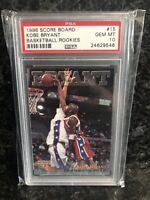 1996 Scoreboard Kobe Bryant Rookie #15 PSA 10 GEM MINT RC  RARE