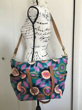 Fossil Key Per Tote Laguna Floral Extra Large Multicolored Removable Strap