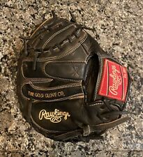 """New listing Rawlings Gamer Series Pro Taper Catchers Mitt Glove 32"""" Black GCMPT Excellent!"""
