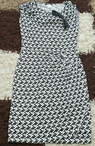 NEW STUNNING OFFICE, WORK/ EVENING BELTED WRAP STYLE DRESS SIZE 12 STRETCH WOW