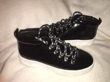 A7EIJE Eden Women Black Fashion Sneakers SZ 7.5