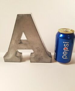 """Rustic Look Metal Letter """"A"""" Wall Hanging Decor• Ready to Paint/ Decorate/ Hang"""