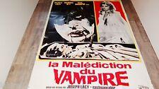 LA MALEDICTION DU VAMPIRE !    affiche cinema 1971