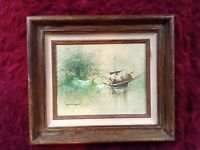 Vintage kwok oil painting on canvas art picture famous artist  rare antique