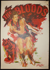 1970s 1980s West Adelaide The Bloods RARE Football Poster Greenberg Sportsplan r