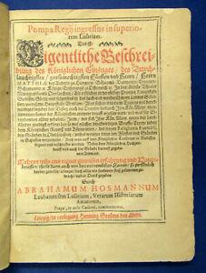 Hossmann  Pompa Regij ingressus in superiorem Lusatiam 1612 Saxonica sf