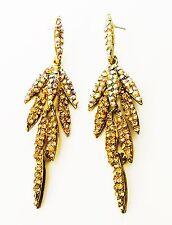 EARRING Rhinestone Crystal Gold AB Fashion gemstone Dangle party Wedding Bridal