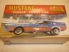 A Vintage JO-HAN factory sealed plastic kit of a 1970 Ford Mustang funny car,