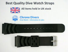20mm PVC Divers Strap - suit Seiko divers watch & similar. Wave / Z22 style