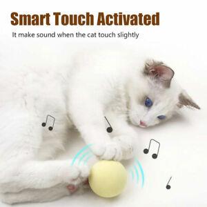 Cat Toys Gravity Ball Smart Touch Sounding Toys Interactive Pet Squeak Ball 8B5
