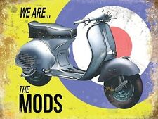 Vespa Scooter, Italian Classic, Mod Target Small Metal/Tin Sign, Picture, Plaque