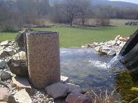 Steinfolie Reststück f. Teichrand Bachlauf Wasserfall Schwimmteich Teichfolie
