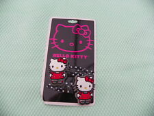 HELLO KITTY lot 2 PINCES CHEVEUX Kitty en robe rouge