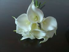 Artificial Flowers Bouquets 'real Touch' Calla Lily Wedding Bouquet Posy 9 Stems