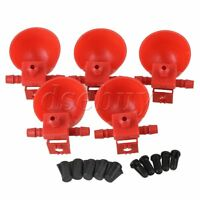 5Pcs Red Coop Chicken Bird Poultry Automatic Water Drinking Cup Feeder Dispenser