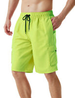 TSLA Men's Swim Trunks Quick Dry Beach Board Shorts with Inner Mesh Lining