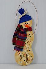 Christmas Snowman Plaque