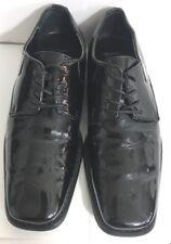 GIORGIO BRUTINI Black Patent Shoes 8M Fallon Leather Lace Ups Formal Dress175881