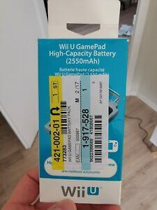 Unbenutzte, Original Nintendo Wii U Gamepad High-Capacity Battery. Quasi neu!