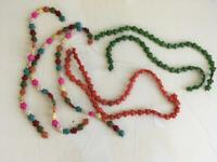 LOT 7 strings turtle beads stone different colors for crafts jewelry