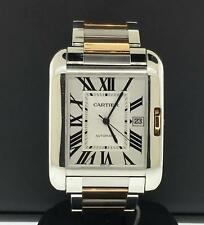 Cartier Tank Anglaise XL 18k Rose Gold & Stainless Steel 47 x 36mm Ref. W5310006