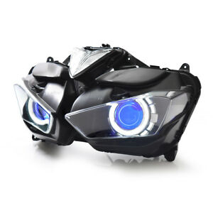 KT LED  Headlight Assembly for Yamaha YZF R3 2015 2016 2017 2018 Blue