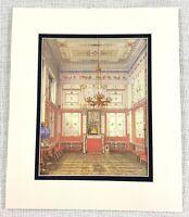 1983 Vintage Stampa Russo Architettura The Inverno Palazzo Pompei Disegno Camera