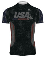 Cliff Keen | SBDUUS19 Limited Edition USA Black Flag Wrestling Compression Shirt