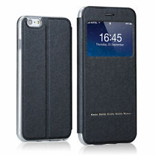 Slim Smart View Window Flip Leather Case Cover For iPhone 4 5S 6 6S Plus Samsung