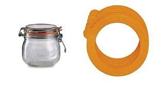 6 Jar O Rings Sealing Lid Ring Airtight Storage Glass Rubber Orings Leak Proof