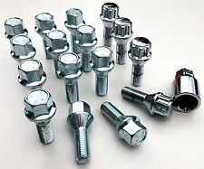 Car wheel bolts inc locking M12 x 1.5 17mm Hex, taper, 26mm thread - Saab x 16