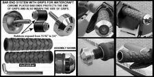 SEADOO BOMBARDIER WATERCRAFT 3D GTI GTS GTX SP XP GRAY GRIPS CHROME BAR ENDS